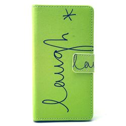 Simple Laugh Leather Wallet Case for Sony Xperia E3 D2203 D2206 / Sony Xperia E3 Dual SIM