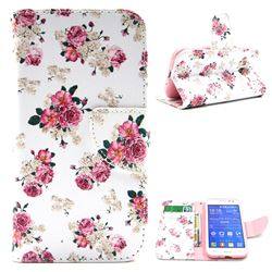 Eastern Roses Leather Wallet Case for Samsung Galaxy Core Prime G360 G360V G360P G360F G360H