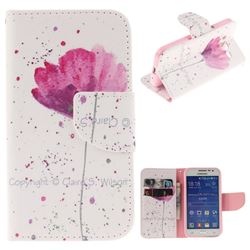 Purple Orchid PU Leather Wallet Case for Samsung Galaxy Core Prime G360