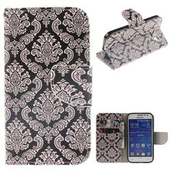 Totem Flowers PU Leather Wallet Case for Samsung Galaxy Core Prime G360