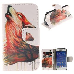 Color Wolf PU Leather Wallet Case for Samsung Galaxy Core Prime G360