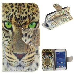 Yellow Tiger PU Leather Wallet Case for Samsung Galaxy Core Prime G360