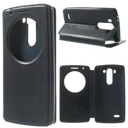 Roar Korea Noble View Leather Flip Cover for LG G3 Beat Mini G3S D725 D722 D729 B2mini - Dark Blue