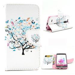 Colorful Tree Leather Wallet Case for LG G3 Beat Mini G3S D725 D722 D729 B2mini