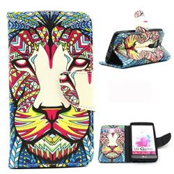 Lion Leather Wallet Case for LG G3 Beat Mini G3S D725 D722 D729 B2mini
