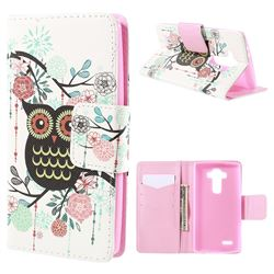 Cross Pattern Cute Owl Leather Wallet Case for LG G4 H810 VS999 F500