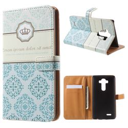 Crown Moroccan Leather Wallet Case for LG G4 H810 VS999 F500