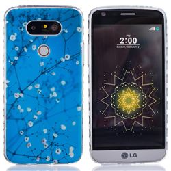 Blue Plum flower Painted TPU Back Cover for LG G5