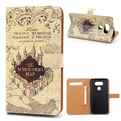 The Marauders Map Leather Wallet Case for LG G5