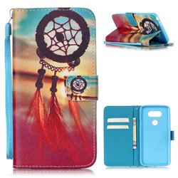 Sunset Dream Catcher Leather Wallet Case for LG G5