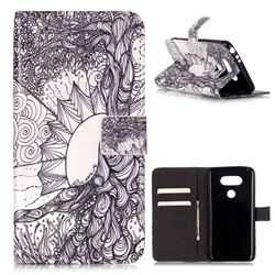 Colorful Old Tree of Life Leather Wallet Case for LG G5