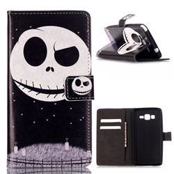 Stars Skull Leather Wallet Case for Samsung Galaxy Grand Prime G530 G530H
