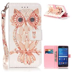 Shell Owl 3D Painted Leather Wallet Case for Samsung Galaxy Grand Prime G530