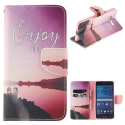 Seaside Scenery PU Leather Wallet Case for Samsung Galaxy Grand Prime G530