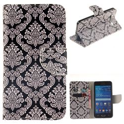 Totem Flowers PU Leather Wallet Case for Samsung Galaxy Grand Prime G530