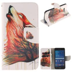 Color Wolf PU Leather Wallet Case for Samsung Galaxy Grand Prime G530