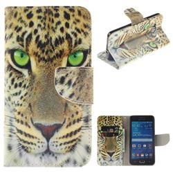 Yellow Tiger PU Leather Wallet Case for Samsung Galaxy Grand Prime G530