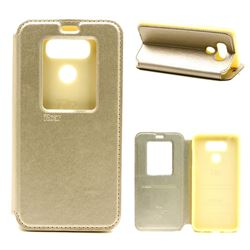 Roar Korea Noble View Leather Flip Cover for LG G6 - Champagne