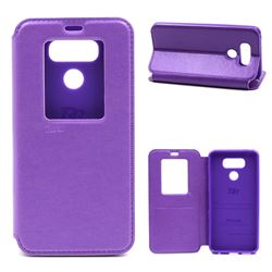 Roar Korea Noble View Leather Flip Cover for LG G6 - Purple