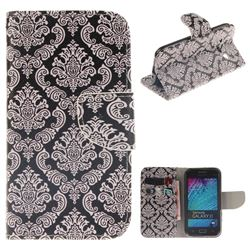 Totem Flowers PU Leather Wallet Case for Samsung Galaxy J1 2015 J100