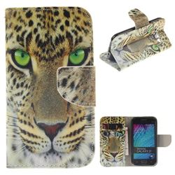 Yellow Tiger PU Leather Wallet Case for Samsung Galaxy J1 2015 J100