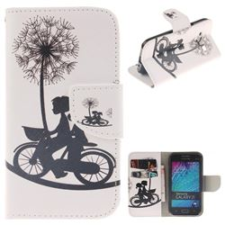 Cycling Dandelion PU Leather Wallet Case for Samsung Galaxy J1 2015 J100