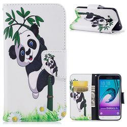 Bamboo Panda Leather Wallet Case for Samsung Galaxy J3 2016 J320