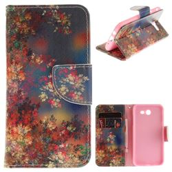 Colored Flowers PU Leather Wallet Case for Samsung Galaxy J3 2017 J330