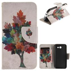 Colored Tree PU Leather Wallet Case for Samsung Galaxy J3 2017 J330