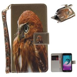 Young Eagle Hand Strap Leather Wallet Case for Samsung Galaxy J5 2016 J510