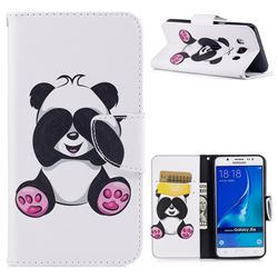Lovely Panda Leather Wallet Case for Samsung Galaxy J5 2016 J510