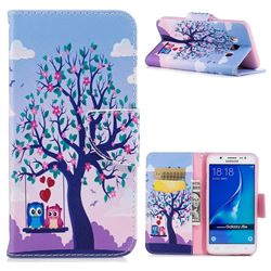 Tree and Owls Leather Wallet Case for Samsung Galaxy J5 2016 J510