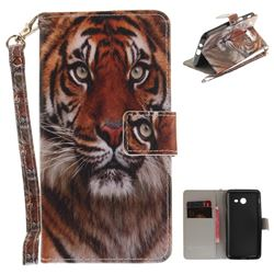 Siberian Tiger Hand Strap Leather Wallet Case for Samsung Galaxy J5 2017 J530