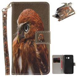 Young Eagle Hand Strap Leather Wallet Case for Samsung Galaxy J5 2017 J530