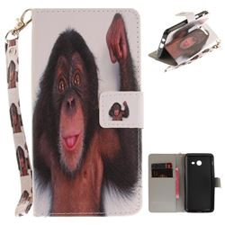 Cute Monkey Hand Strap Leather Wallet Case for Samsung Galaxy J5 2017 J530