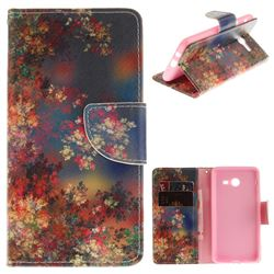 Colored Flowers PU Leather Wallet Case for Samsung Galaxy J5 2017 J530