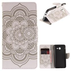 White Flowers PU Leather Wallet Case for Samsung Galaxy J5 2017 J530