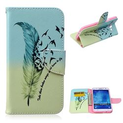 Feather Bird Leather Wallet Case for Samsung Galaxy J7 J700F J700H J700M