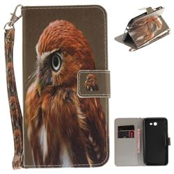 Young Eagle Hand Strap Leather Wallet Case for Samsung Galaxy J7 2017 J730