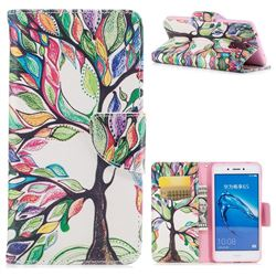 The Tree of Life Leather Wallet Case for Huawei Enjoy 6s Honor 6C Nova Smart