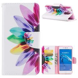 Seven-color Flowers Leather Wallet Case for Huawei Enjoy 6s Honor 6C Nova Smart
