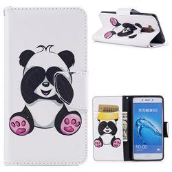 Lovely Panda Leather Wallet Case for Huawei Enjoy 6s Honor 6C Nova Smart