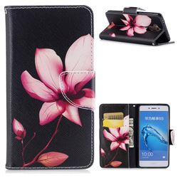 Lotus Flower Leather Wallet Case for Huawei Enjoy 6s Honor 6C Nova Smart