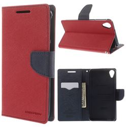 size 40 9588a a3f8e Mercury Goospery Fancy Diary Leather Case for HTC Desire 820 - Red ...