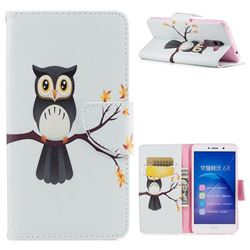 Owl on Tree Leather Wallet Case for Huawei Honor 6X Mate9 Lite