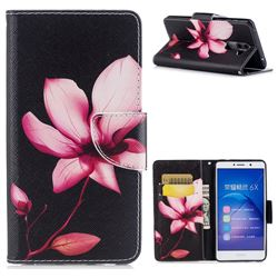Lotus Flower Leather Wallet Case for Huawei Honor 6X Mate9 Lite