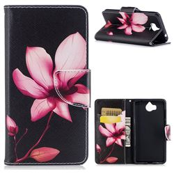Lotus Flower Leather Wallet Case for Huawei Y5 (2017)