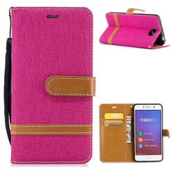 Jeans Cowboy Denim Leather Wallet Case for Huawei Y5II Y5 2 Honor5 Honor Play 5 - Rose