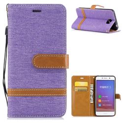 Jeans Cowboy Denim Leather Wallet Case for Huawei Y5II Y5 2 Honor5 Honor Play 5 - Purple