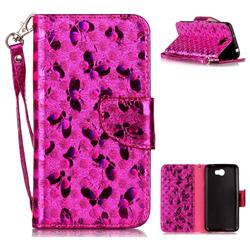 Luxury Laser Butterfly Optical Maser Leather Wallet Case for Huawei Y5II Y5 2 Honor5 Honor Play 5 - Rose